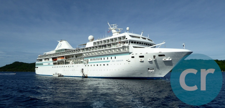 m/s Paul Gauguin anchored in Bora Bora, Society Islands
