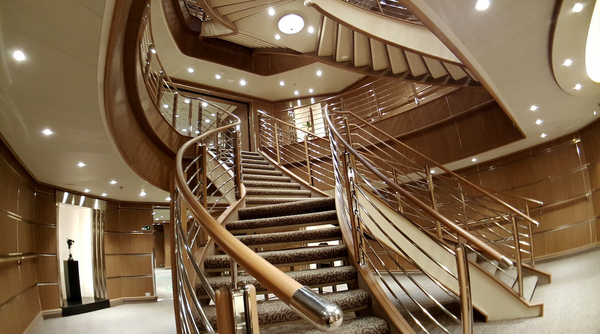 Central staircase   Silver Muse   CruiseReport