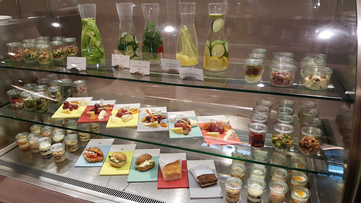 Snacks and flavor-infused waters at The Arts Cafe