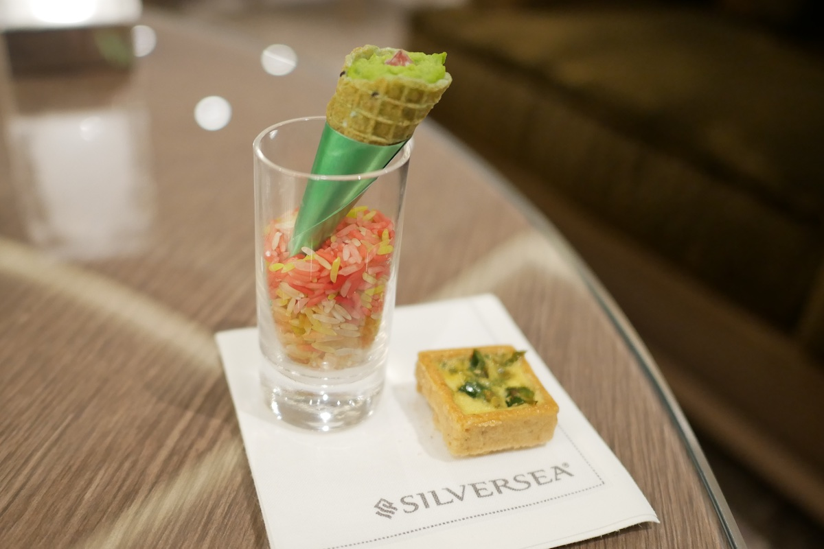 Creative and delicious hors d'oeuvres served in Panorama Lounge and Dolce Vita