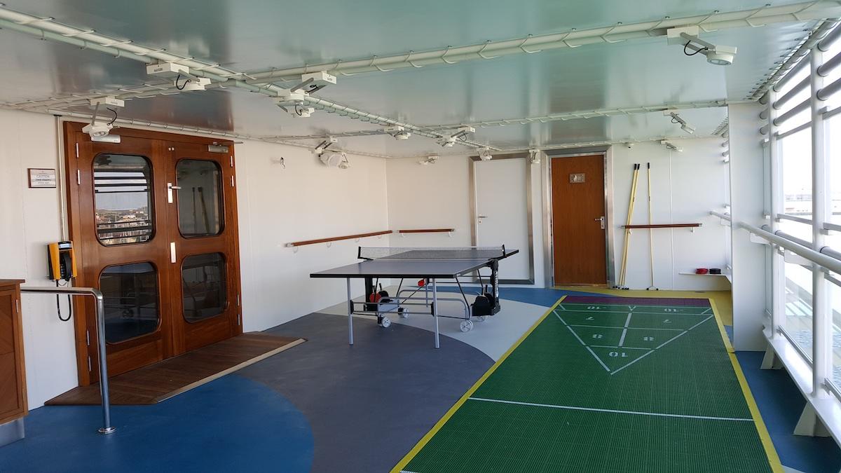 Table tennis and shuffleboard