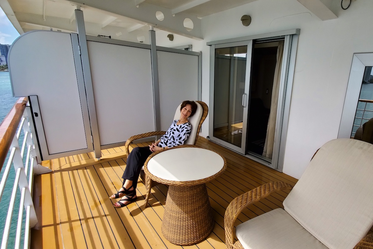 Huge balcony in Superior Suite | Seven Seas Explorer | CruiseReport