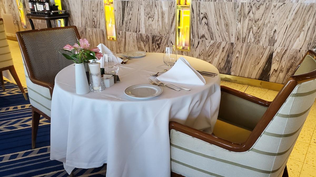 Table for two in La Veranda | Seven Seas Explorer | CruiseReport
