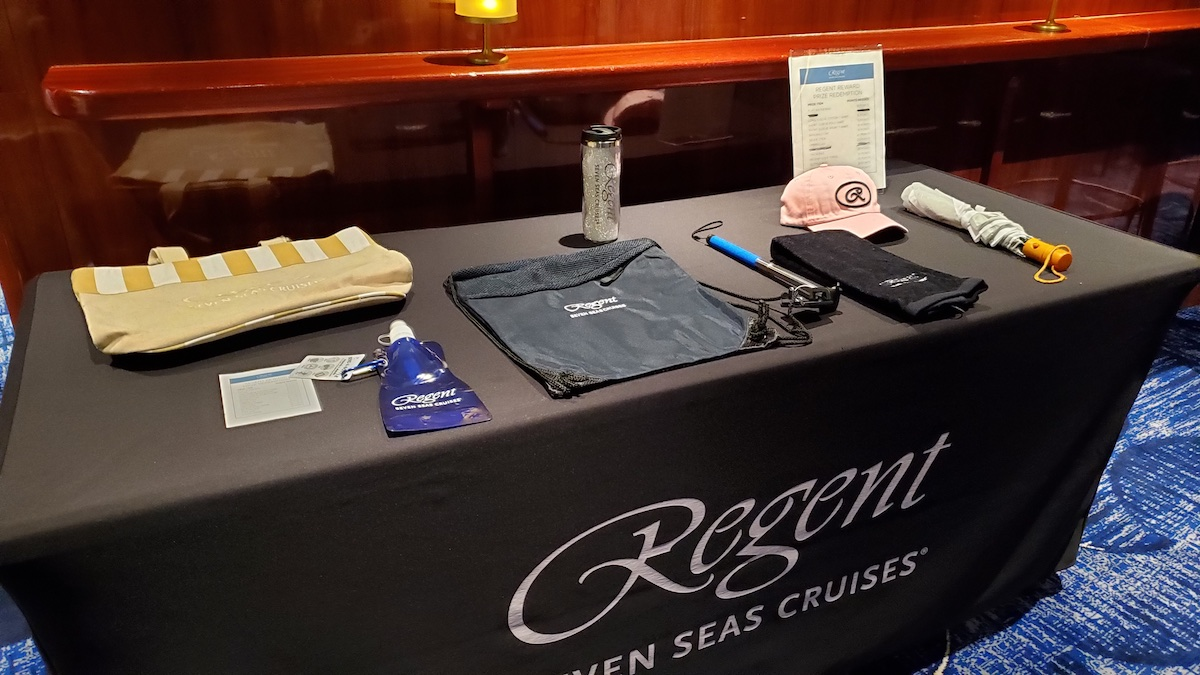 Some of the Regent Reward logo items