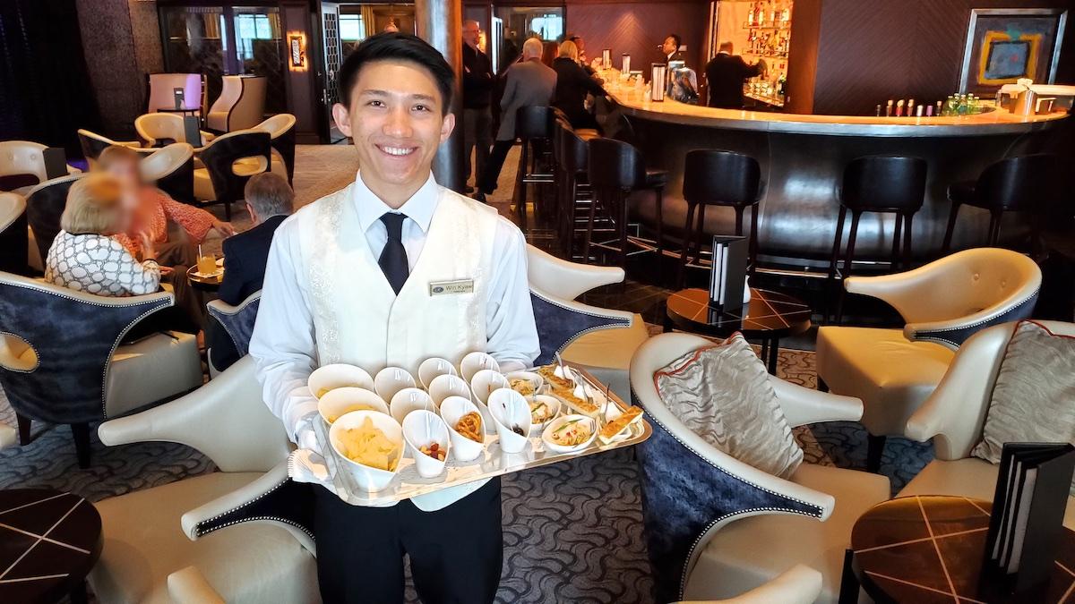 Canapés served each evening in lounges | Seven Seas Explorer | CruiseReport