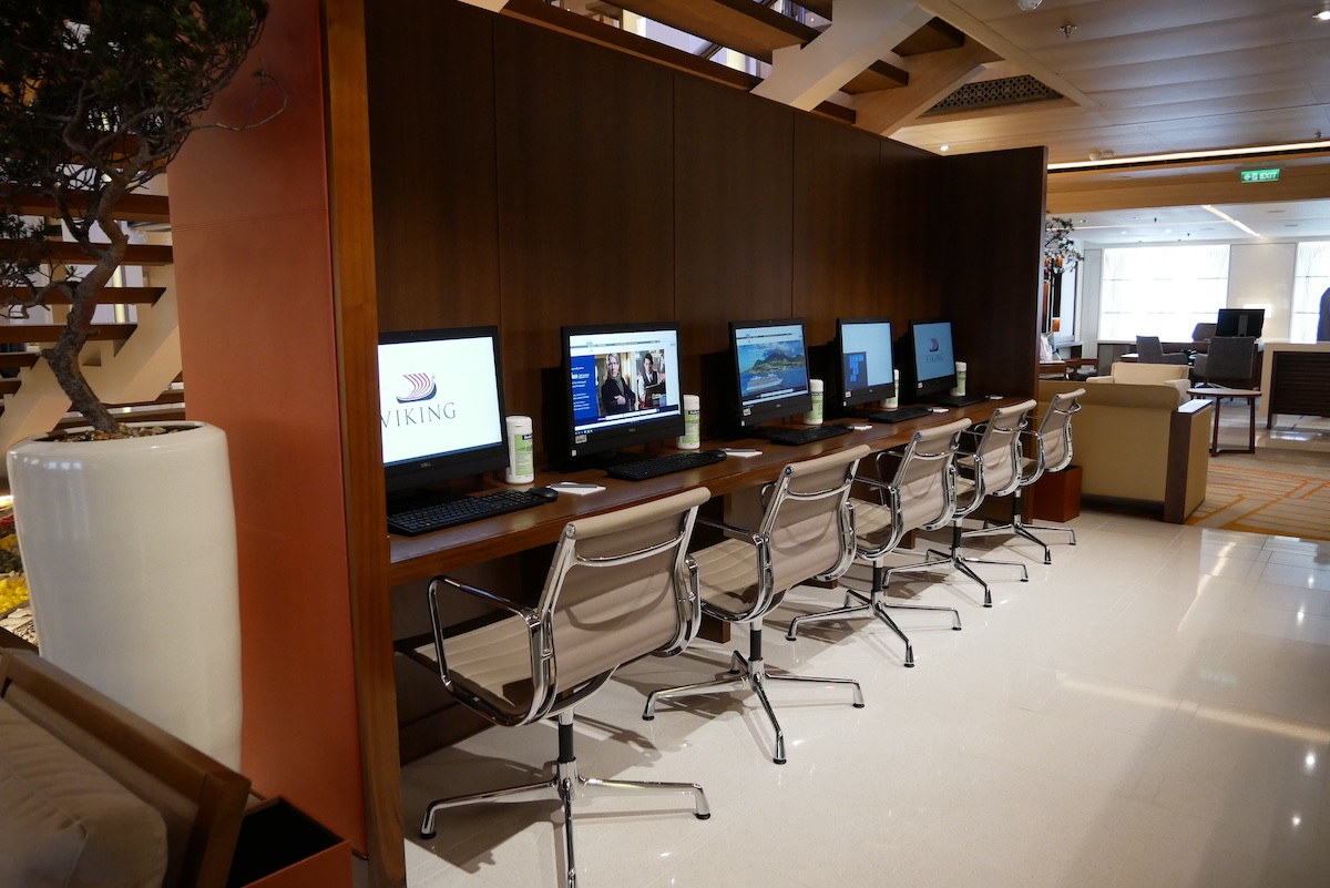 Internet cafe is located on Deck 1 midship (next to Guest Services)