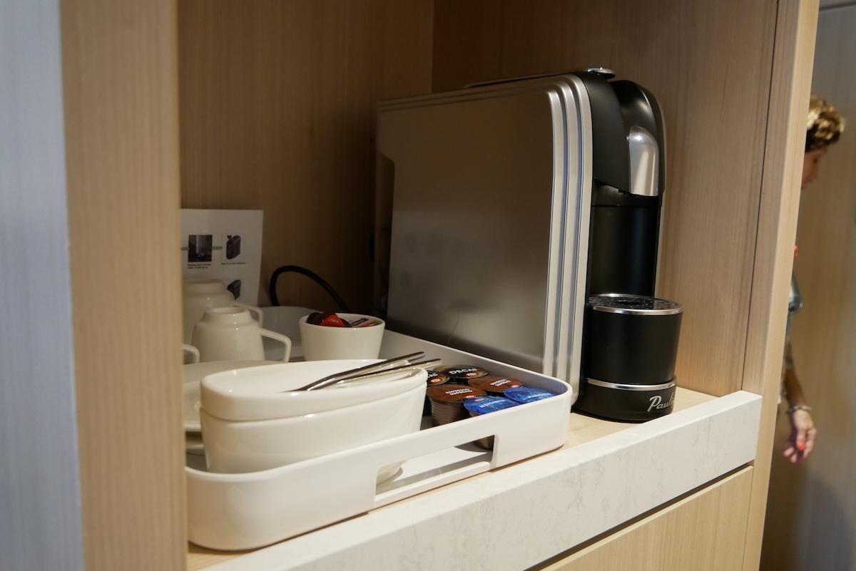 Coffee maker in room | Viking Sky | CruiseReport