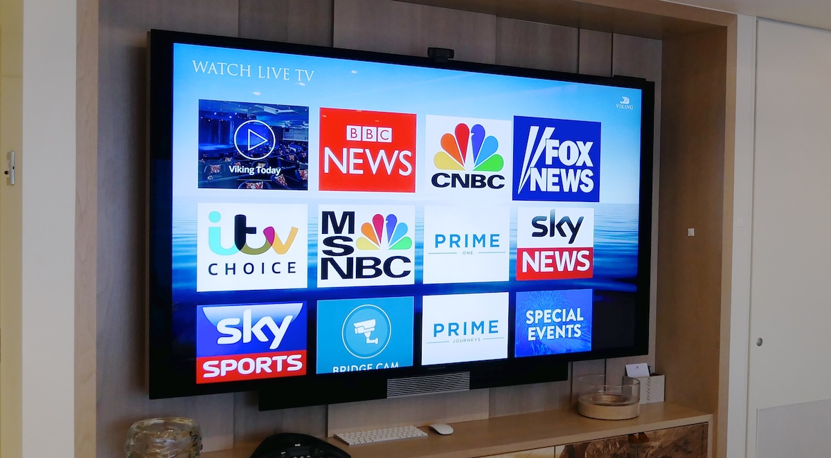 Television programming | Viking Sky | CruiseReport