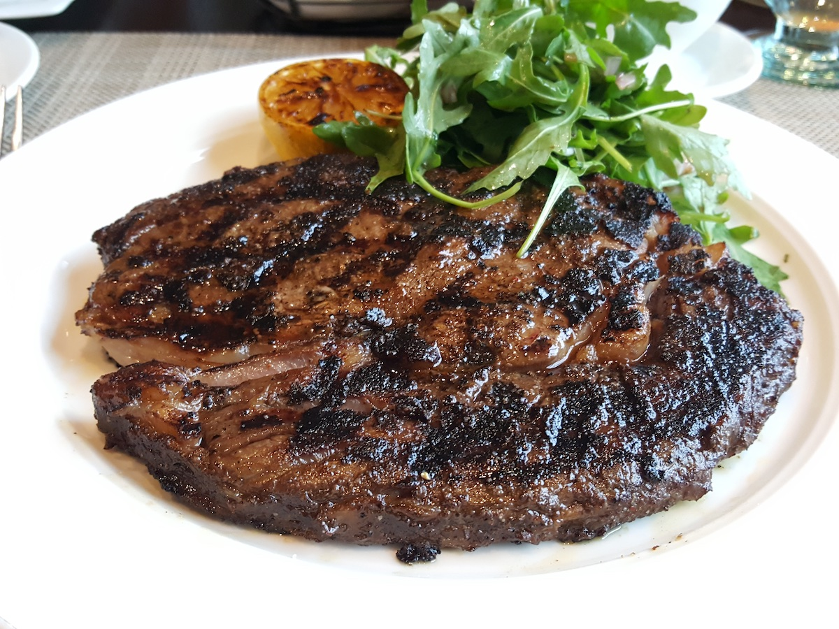 Bistecca Fiorintina (spice rubbed Rib Eye) at Manfredi's is the best steak at sea