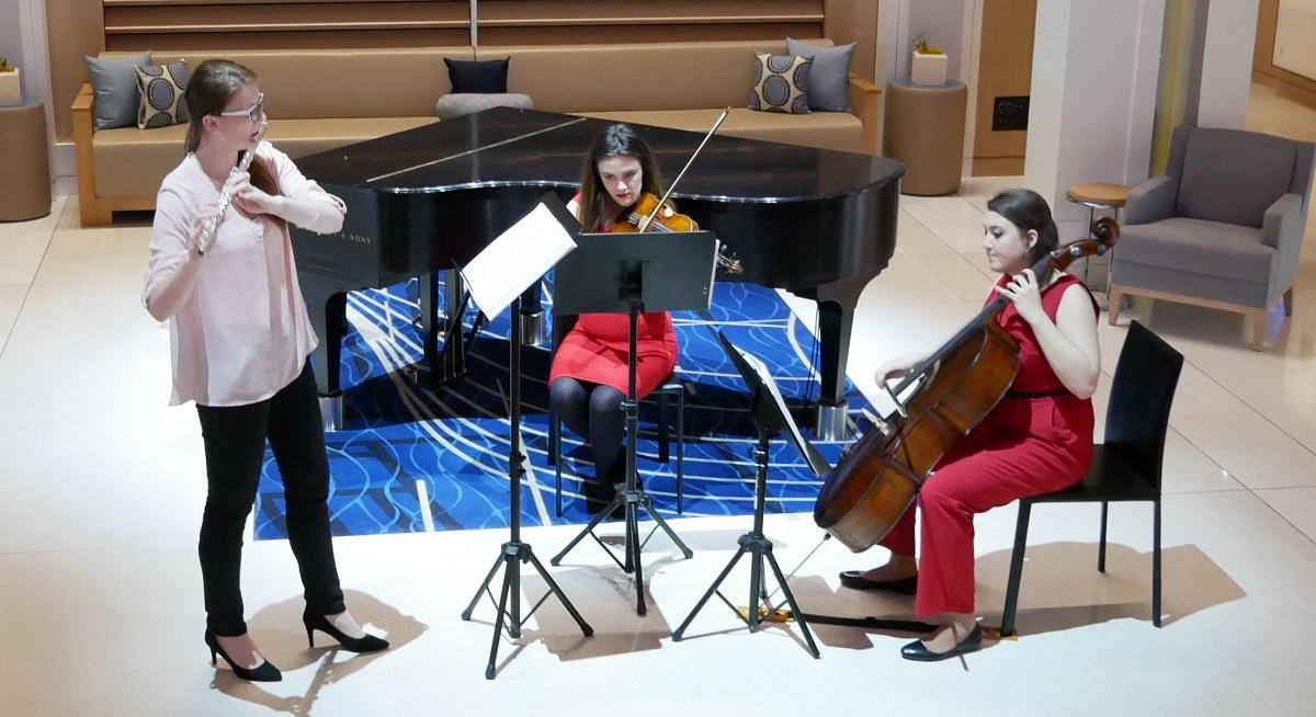 Viking Classical Trio performs in The Atrium