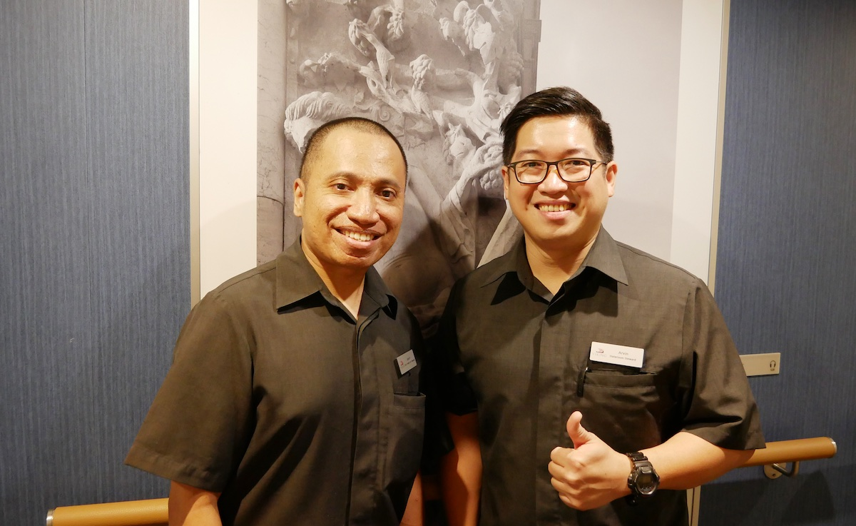 Kevin and Arvin, our stateroom attendants