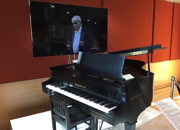 Bernstein's piano. Part of Leonard Bernstein at 100 exhibit in Boston.