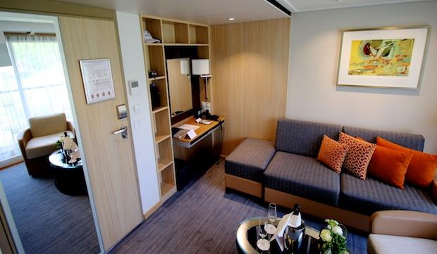 Veranda Suite Living Room   Viking River Cruises   Viking Alruna   CruiseReport