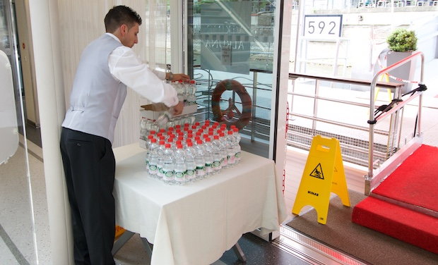 Complimentary bottled water   Viking River Cruises   Viking Alruna   CruiseReport