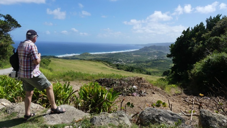 The rugged east coast, the Atlantic side, of Barbados