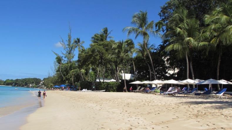 The wide beach at Fairmont Royal Pavilion.