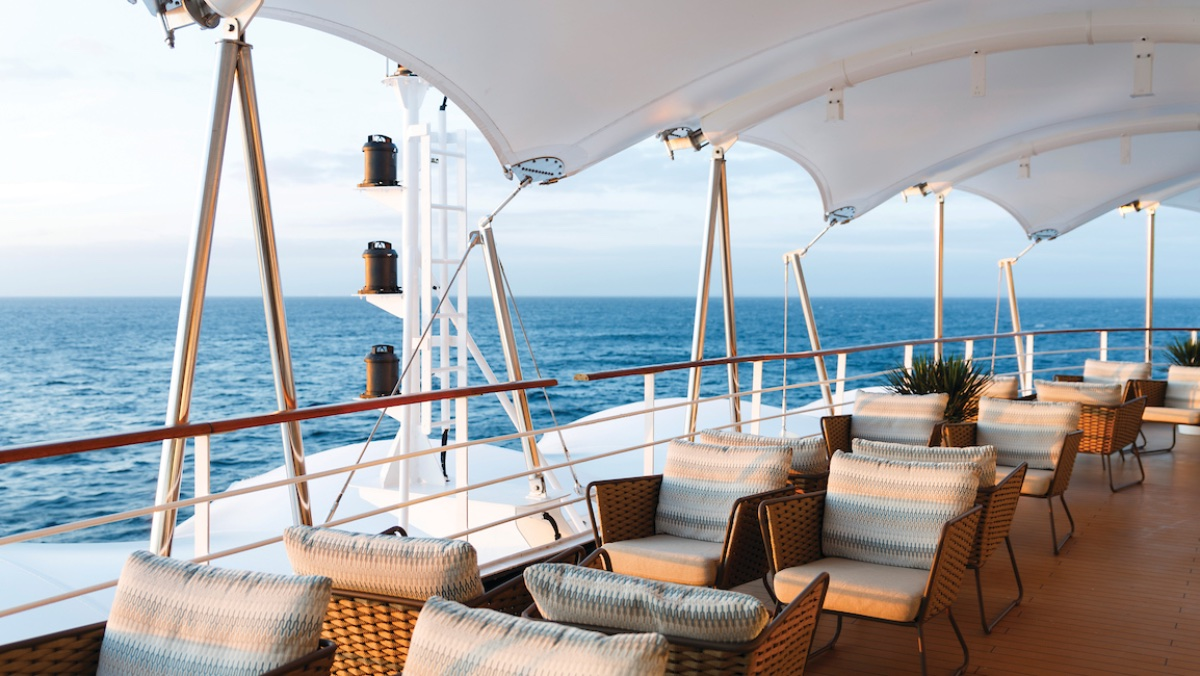 The terrace at Arts Cafe | Silver Spirit | CruiseReport