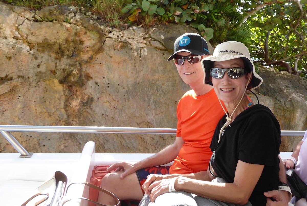 Chris Dikmen and Rickee Richardson on excursion in Semana | Silversea Silver Spirit | CruiseReport.jpg
