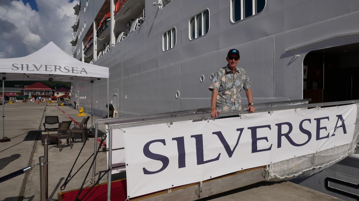 Chris Dikmen disembarks in Roadtown | Silversea Silver Spirit | CruiseReport.jpg