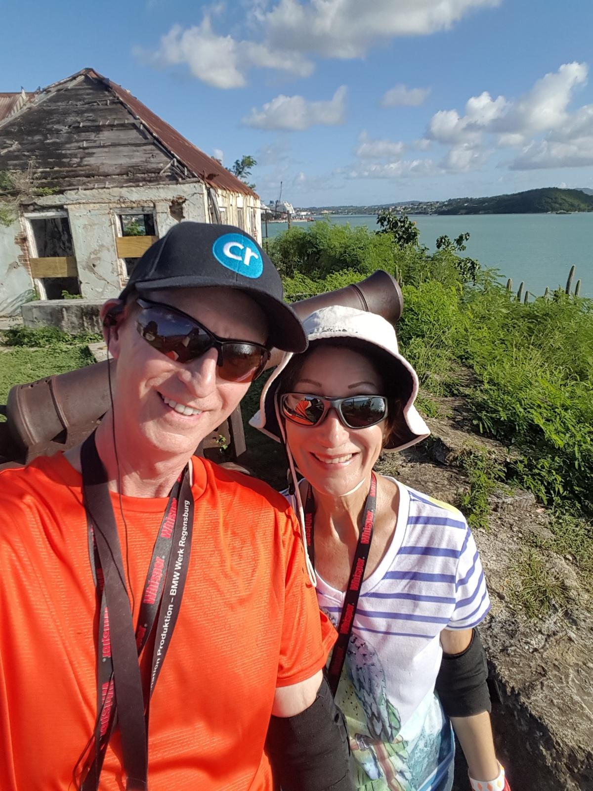 Chris Dikmen and Rickee Richardson in Antigua | Silversea Silver Spirit | CruiseReport.jpg