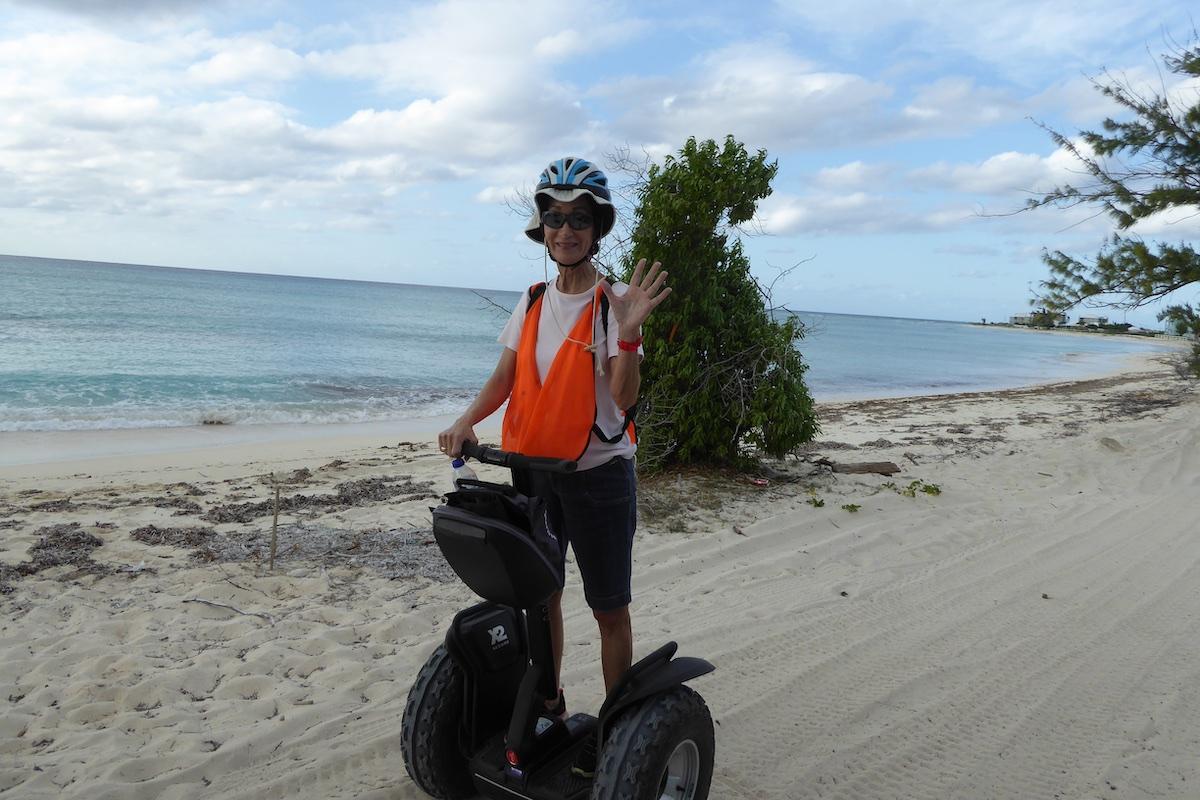 Rickee on the beach in Grand Turk | Silversea Silver Spirit | CruiseReport.jpg
