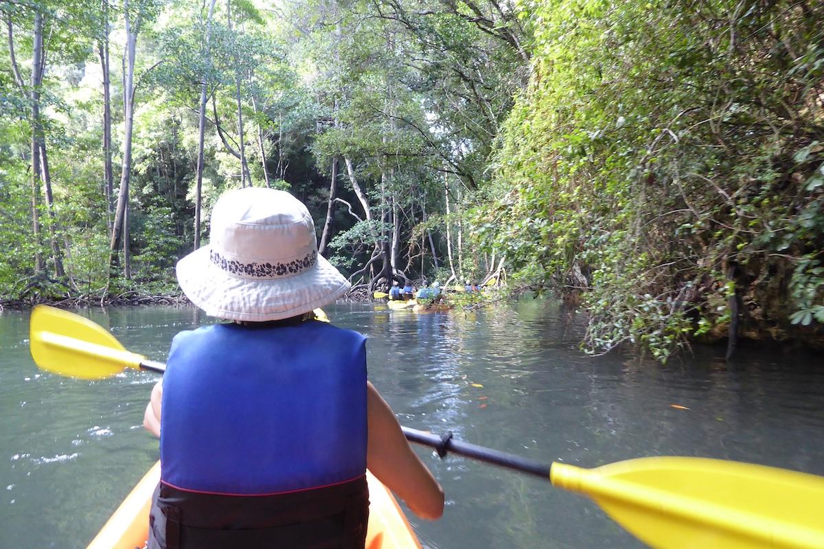 Rickee kayaking in Semana | Silversea Silver Spirit | CruiseReport.jpg