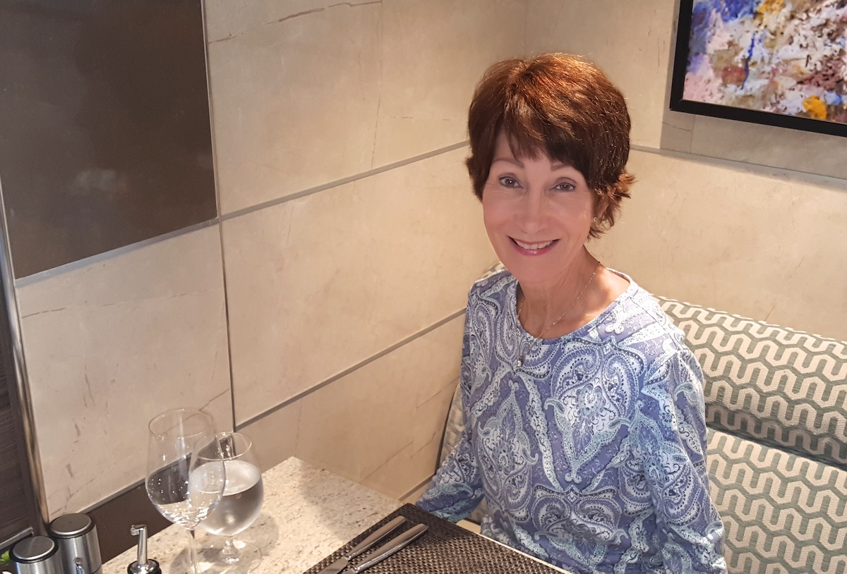 Rickee Richardson at La Terrazza | Silversea Silver Spirit | CruiseReport.jpg
