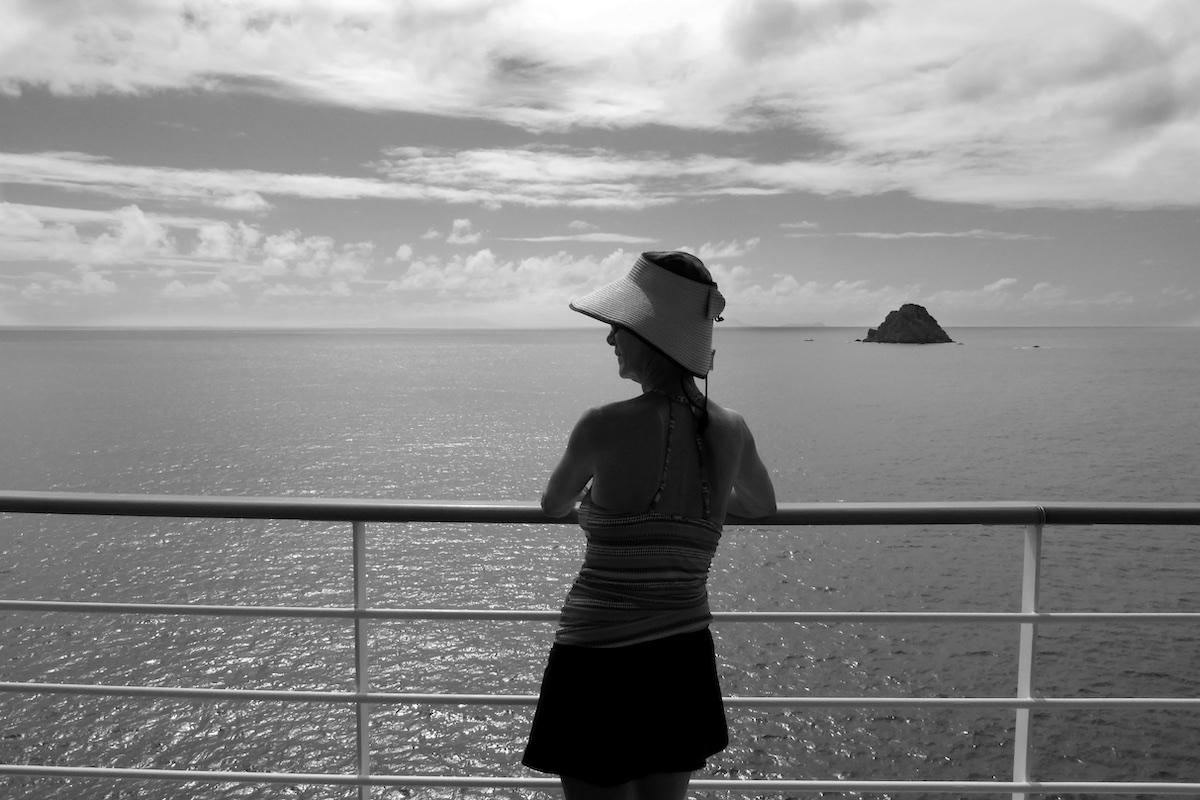 Rickee Richardson on Silver Suite Balcony | Silversea Silver Spirit | CruiseReport.jpg