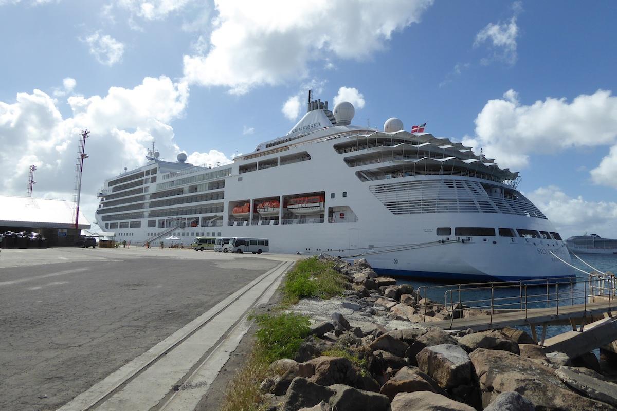 Silver Spirit docked in St. Kitts | Silversea Silver Spirit | CruiseReport.jpg