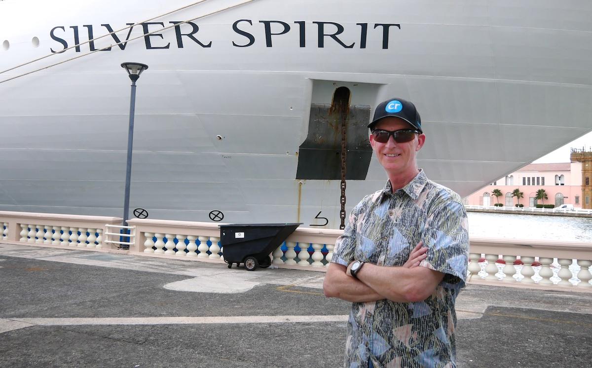 Chris Dikmen with Silver Spirit | Silversea Silver Spirit | CruiseReport.jpg