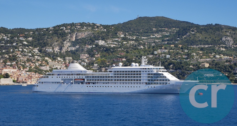 Silversea's Silver Whisper as seen from Silver Muse in the Mediterranean | Silversea Silver Muse | CruiseReport