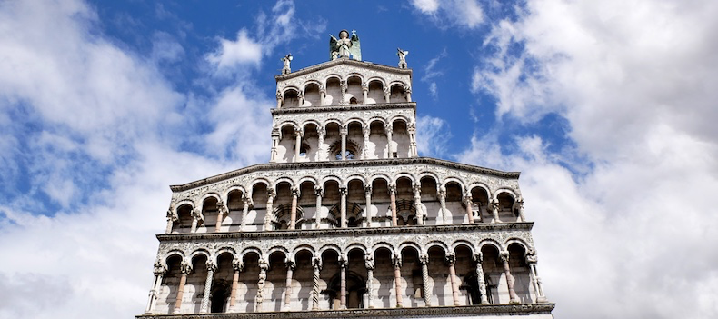 Cathedral in St. Martin's Square in Lucca | Silversea Silver Muse | CruiseReport