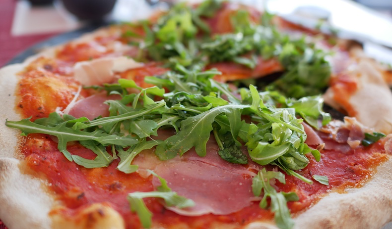 Prosciutto e Rucola pizza at Spaccanapoli