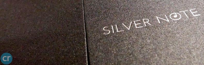 Silver Note menu cover