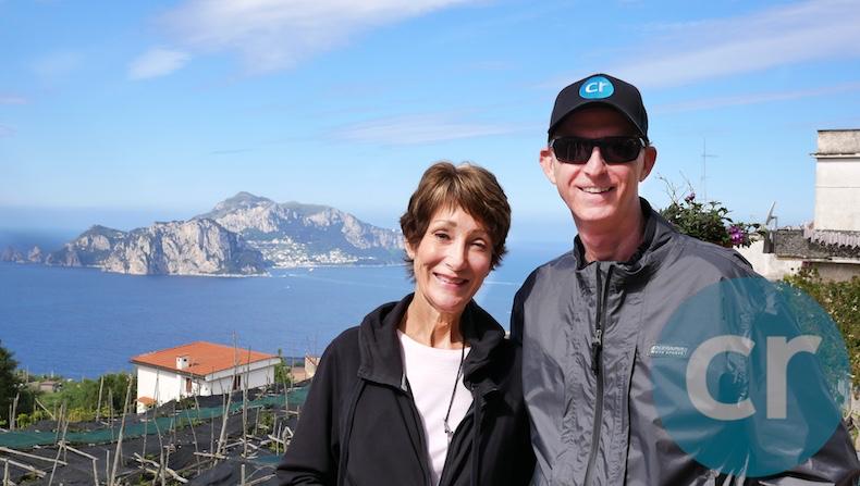 Isle of Capri in the background