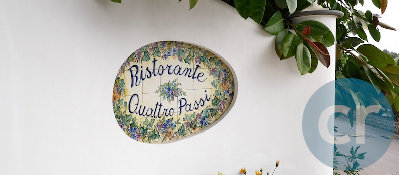 Outside 2-Michelin-star restaurant, Quattro Passi in Nerano, Italy | Silversea Silver Muse | CruiseReport