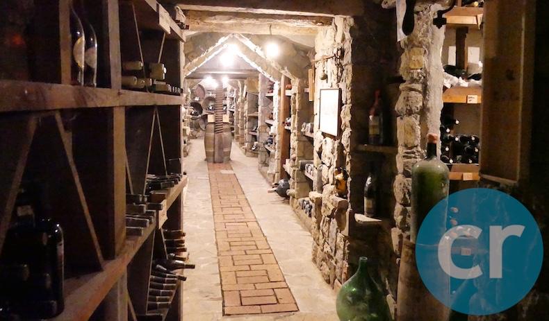 Wine cellar at Quattro Passi