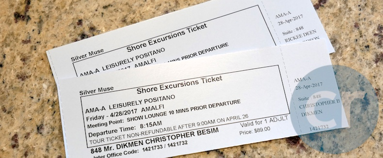 Shore excursion tickets for tour in Positano, Italy | Silversea Silver Muse | CruiseReport