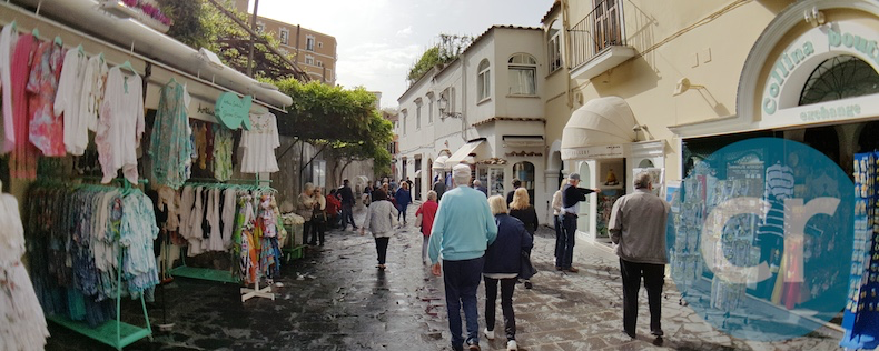 A shopping street in Positano, Italy | Silversea Silver Muse | CruiseReport
