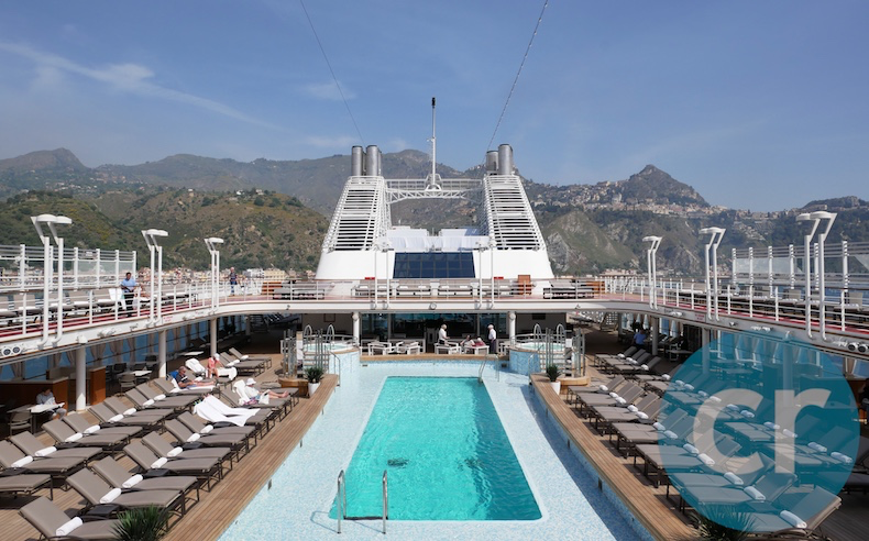 The Pool Deck with Taormina in the background