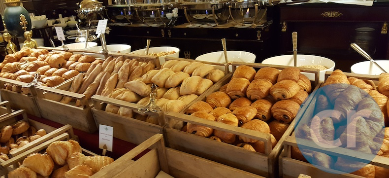 Amazing bread selection at breakfast buffet