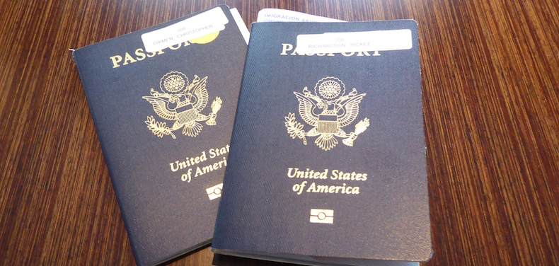 Passports stamped and ready