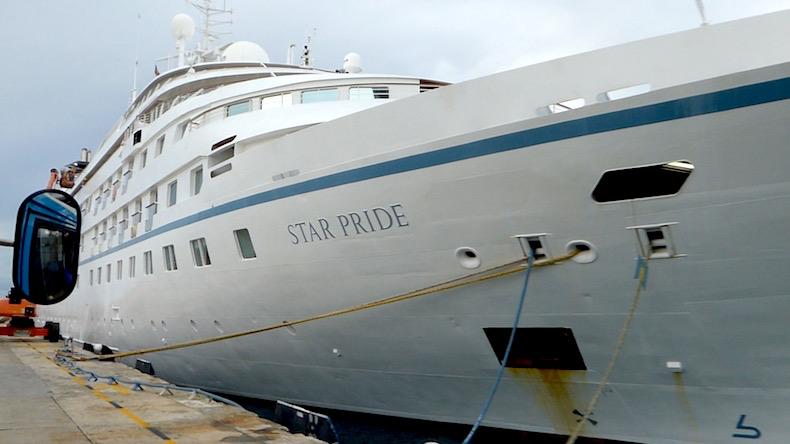 Star Pride docked in Barbados