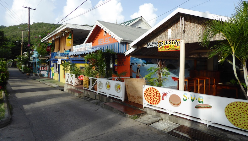 Local shops in Bequia