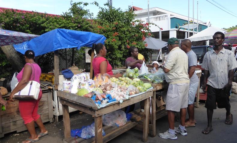 Local merchants in Grenada