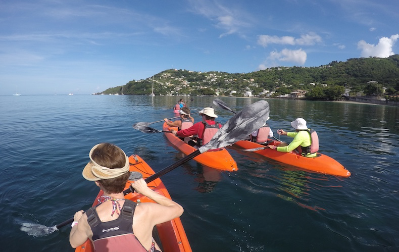 Paddling our way along the coast of Grenada