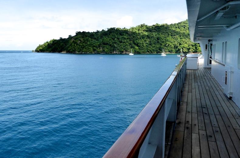 Anchored off the coast of Tobago