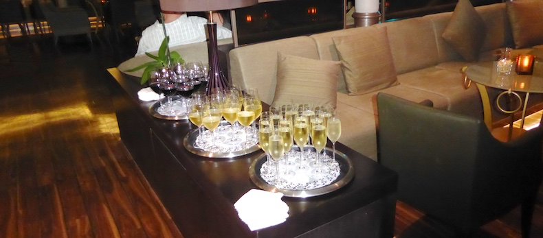 Wine and champagne await Yacht Club Members