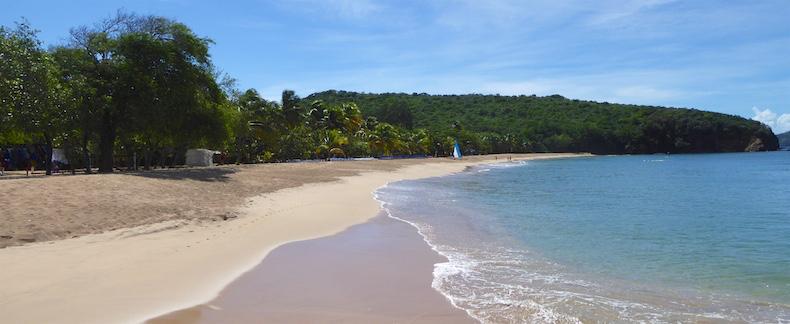 The beach at Mayreau