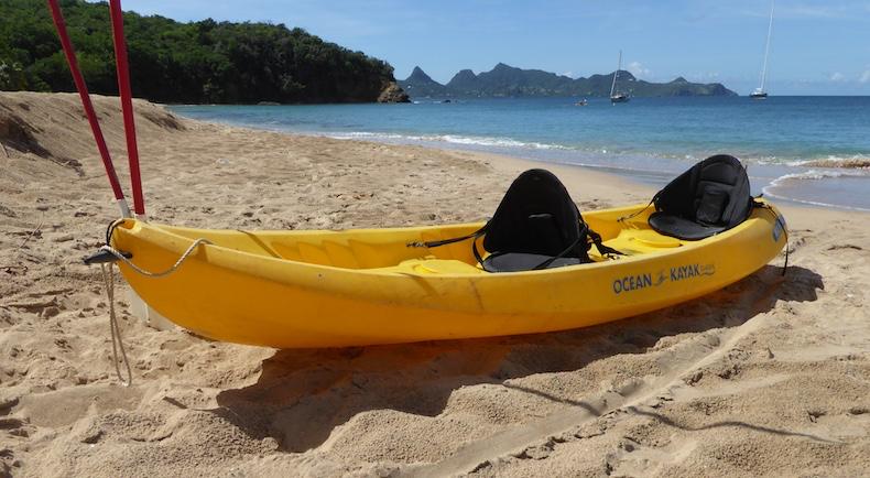 Kayak waiting on the beach